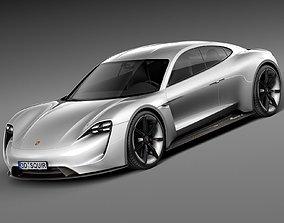 Porsche Mission E Concept 2015 3D