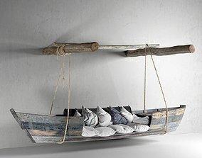 Hanging Boat Sofa 3D