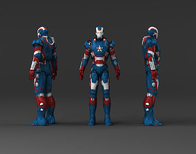 Iron Man Captain America 3D asset