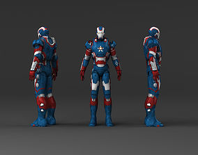 Iron Man Captain America 3D asset
