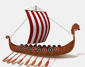 3D model Viking ship