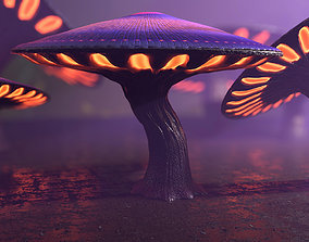 Fantasy Mushrooms Collection 3D asset game-ready