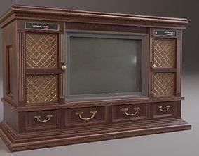 3D asset PBR Vintage TV Cabinet