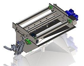 Conveyor belt washer 3D