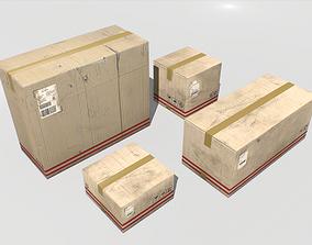 3D model Cardboard Boxes Pack 2