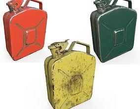 3D asset Set fuel cans PBR