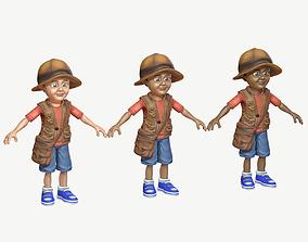 3D model Exploring Boy
