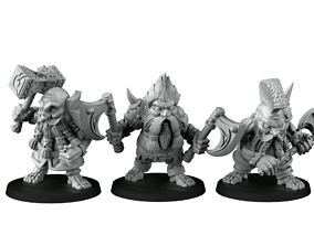 group of dwarf slayer 3D print model