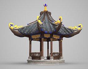 The luxurious Pavilion of ancient architecture 3D model
