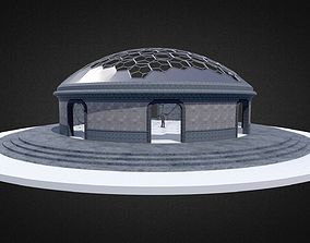 Hexagonal dome Geodesic dome like structure 3D asset 2