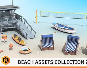 Beach Assets Collection 2 3D model