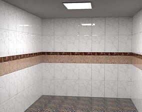 3d model bathroom in Maxon 4d Cinema r 20