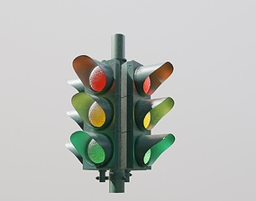 Traffic Lights 3D model VR / AR ready