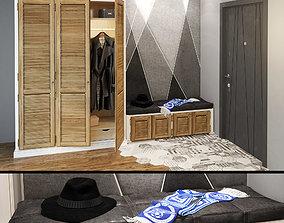 3D hallway set wardrobe 3 doors