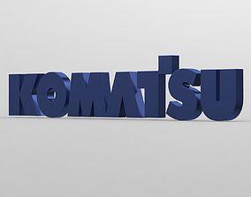 3D model komatsu logo