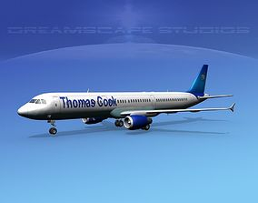 3D model Airbus A321 Thomas Cook