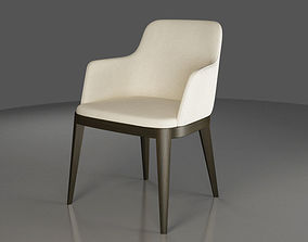 Coffee or Dining fabric-covered Armchair 3D