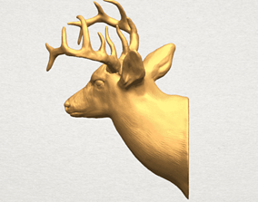 art Deer Head 3D Model