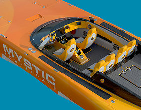 3D Mystic Powerboat C3800 YELLOW motor