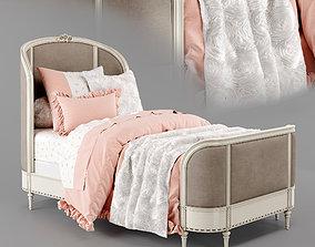 3D model Aveline velvet bed Restoration Hardware