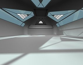 3D asset Empty Modern Hangar Building