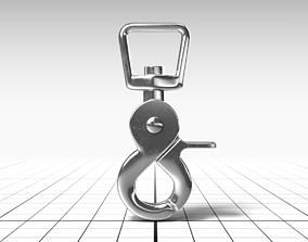3D asset rigged low-poly Carabiner