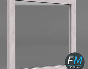 3D model Acrylic barrier with frame