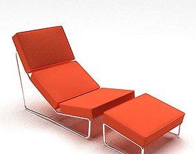 3D Orange Retro Chair