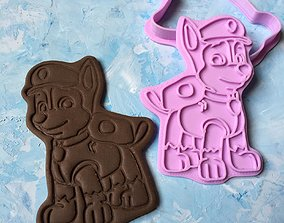 Paw Patrol Cookie Cutter Details Chase 3D print model