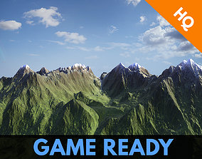 Mountains 3d Model Modular Mountain Game Ready realtime 3