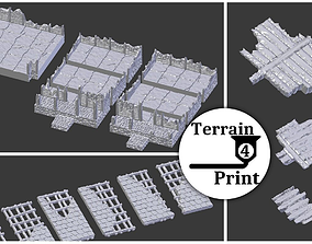 Modular viking house ruins 3D printable model