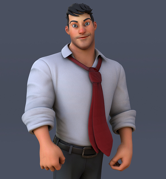 Corporate Man Cartoon