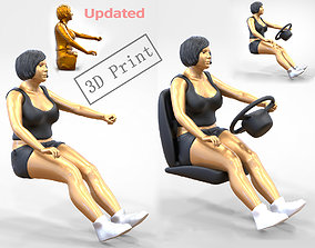 N1 Woman Driver 1 64 Miniature With 3D printable model 2