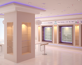 3D model Pharmacy Interior 01