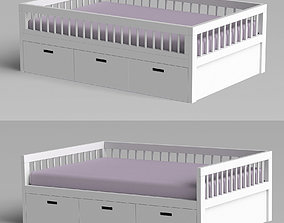 Bed Scandinavia without roof toy-storage 3D