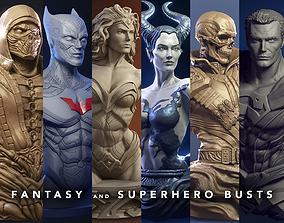 Fantasy and Superhero Bust - 3d print busts