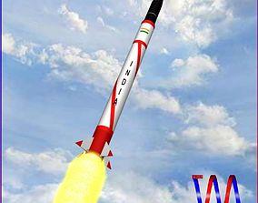 AGNI-I Ballitic Missile 3D asset