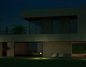 3D Modern House With A Yard