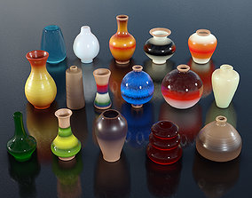 3D model 16 Mixed Coloured Vases