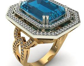 silver jewel WOMAN RING 3D print model