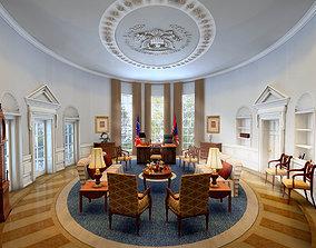Oval Office 3D Model