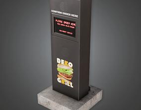 3D asset SAM - Drive Thru Speaker 01 - PBR Game Ready