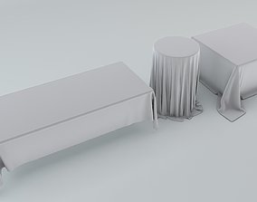 3D model Tablecloth Set