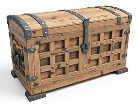3D asset Old Chest 06