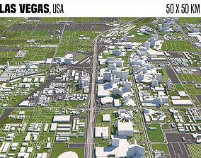 cityscape Las Vegas 3D model