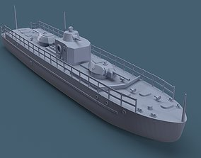 Armored boat 3D print model