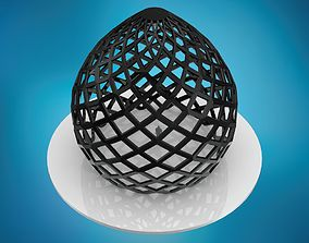 Dome pointed hexagonal grid structure 3D model
