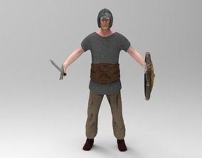 Low poly Warrior 3D model