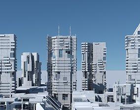 3D Futuristic Sci-Fi Skyscrapers 001