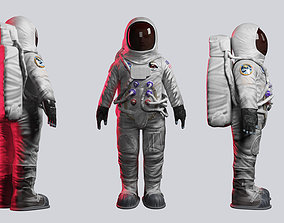 rigged Astronaut 3D model rigged